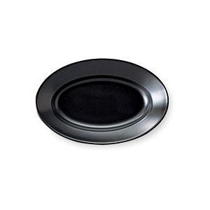 (業務用・楕円皿)エクシブ 17cmプラター(黒マット)(入数:5)