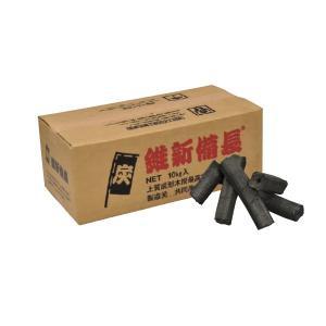 (業務用・コンロ・七輪)維新炭(並) 10kg (黒炭)(入数:1)|sarara-tt