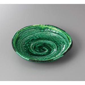 (業務用・楕円皿)緑釉黄流し六兵衛7.0皿(入数:5)