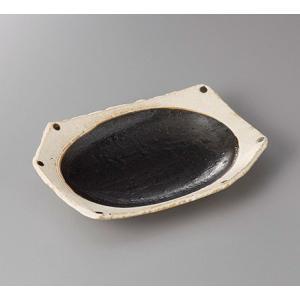 (業務用・楕円皿)和黒(わっこく)ちぎり前菜皿(入数:5)