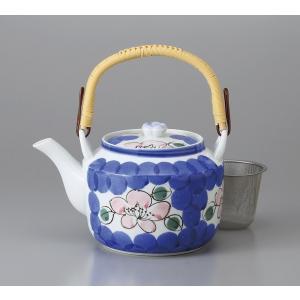 (業務用・急須・土瓶)新山茶花10号土瓶(Uアミ付)(入数:5)