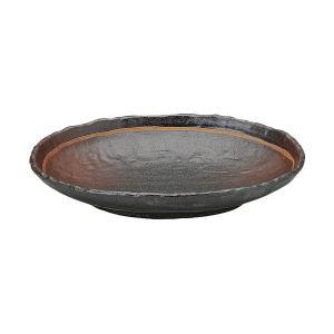 (業務用・楕円皿)あけぼの 石目小判皿 大 (入数:5)