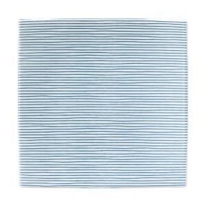 (業務用・正角皿)伝統文様のうつわ 19.5cm正角皿 細縞 緑(入数:5)|sarara-tt