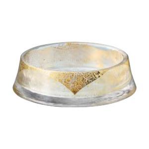(業務用・丸皿)グラッセ リバーシブルプレート160大 金箔付き(入数:1)