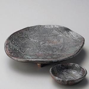 (業務用・楕円皿)南蛮潮騒楕円足付刺身皿[05301-307](入数:5)