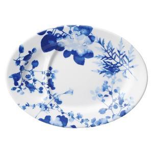 (業務用・楕円皿)フローラル 仕切り付9吋皿[69509-447](入数:5)