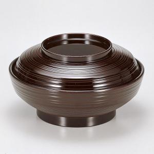 (業務用・蓋向・煮物碗)[TA]5.5寸線筋平煮物椀 溜内黒[82529-808](入数:5) sarara-tt