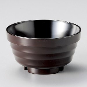(業務用・汁椀)[TA]重ね椀(大) 新溜内黒[81704-808](入数:5) sarara-tt