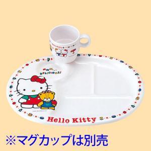 (業務用・ランチプレート)ホワイトキティー ランチ皿(入数:5)