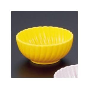 (業務用・珍味)菊鉢(深)(樹脂製) イエロー(入数:5)|sarara-tt