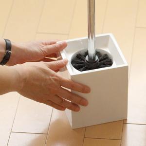 トイレ掃除 ホテルライク 陶器 セット [b2c セラミック トイレブラシ L]|sarasa-designstore