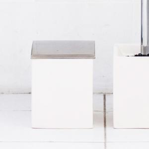 トイレ用 ごみ箱 ポット ホテルライク 陶器 [b2c セラミック トイレポット L]