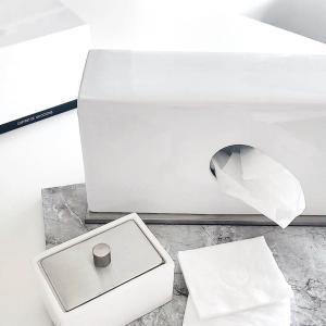 ティッシュボックス 白 陶器 ホテル[b2c セラミック ティッシュスタンド ]|sarasa-designstore