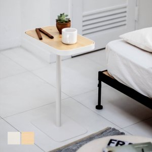 ベッドサイドテーブル テーブル 白 ホワイト[b2c シンプル ミニテーブルスクエア]|sarasa-designstore