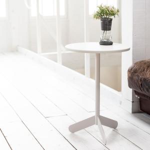 ベッドサイドテーブル テーブル 白 ホワイト[b2c サイドテーブル ラウンド ]#SALE_FA ...