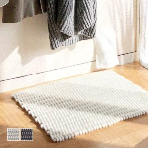 玄関マット フロアマット チェアマット/コットンロープマット(ホワイト・グレー)|sarasa-designstore