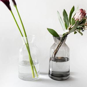ガラス 花瓶 枝物 おしゃれ[b2cフラワーベース ミルクポット L]|sarasa-designstore