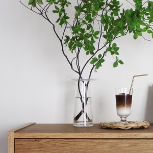 ガラス 花瓶 枝物 おしゃれ[b2c フラワーベース ブリムタイプ S]|sarasa-designstore