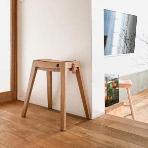 木製 ウッド チェア 玄関 シンプル[b2c スタッキング スツール(オーク)]|sarasa-designstore