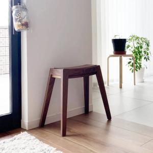 木製 ウッド チェア 玄関 シンプル[b2c スタッキング スツール(ウォールナット)]|sarasa-designstore