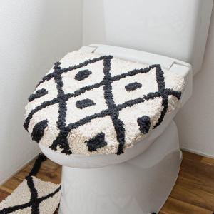 トイレ蓋カバー 洗浄暖房[b2c チェック トイレフタカバー|オーガニックコットン]|sarasa-designstore