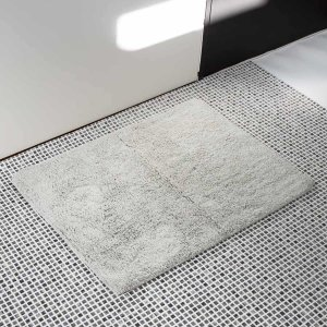 足拭きマット 無地 吸水 速乾 もこもこ おしゃれ かわいい 洗える [b2c バスマット(ホワイト・ウォームグレー・チャコールグレー) ]#SALE_BTの写真