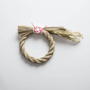 しめ飾り 中(約 幅約270mm、直径約170mm)|正月飾り・しめ飾り・しめ縄