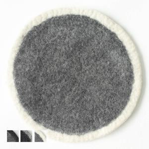 クッション シンプル 丸[b2c ウール フェルト チェアシート|約 直径36cm]|sarasa-designstore