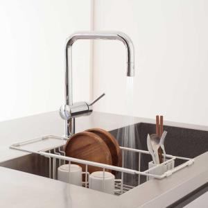 キッチン 水切りラック 水切りかご  ステンレス/nspディッシュラック (ホワイト)|sarasa-designstore