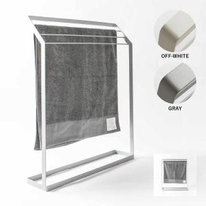 タオル掛け 洗面所 脱衣所 スリム 薄型 シンプル モノトーン[nsp タオルスタンド L ]|sarasa-designstore
