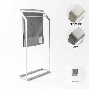 タオル掛け 洗面所 脱衣所 スリム 薄型 シンプル モノトーン[nsp タオルスタンド S]|sarasa-designstore