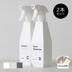 セット販売●b2c_2wayスプレーボトル360°【2本+シール入り】|sarasa-designstore