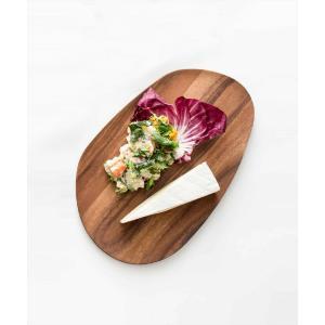 プレート 皿 木 木製 ウッド 天然 器 うつわ 食器 モダン ナチュラル[b2c アカシアウッドラウンドトレー M] sarasa-designstore