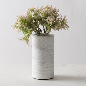 瓶 フラワーベース セメント [TUNN-C プランター セメント サイズ S ハイ(マーブルホワイト)]|sarasa-designstore