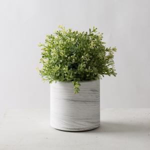 瓶 フラワーベース セメント [TUNN-C プランター セメント サイズ M ロー(マーブルホワイト)]|sarasa-designstore