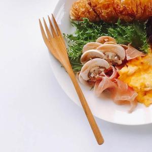 木 木製 ウッド 天然 カトラリー 食器[メール便可|b2c チークフォーク L]