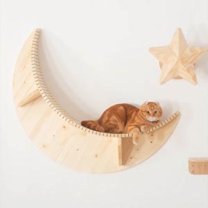 ■〈MYZOO マイズー〉LUNA キャットステップ ・サイズ:三日月型:幅30cm、直径:100c...