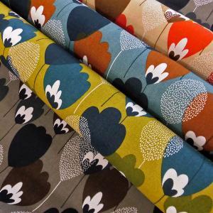 綿麻混オックスフォード生地(AP12703-2)北欧の森 生地巾110cm   数量1(50cm)550円(特価価格品)国産 sarasa-nuno