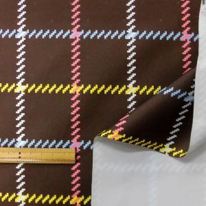 ゴム引防水生地(YBS383) ブラウン 生地巾145cm  数量1(50cm)190円  国産|sarasa-nuno