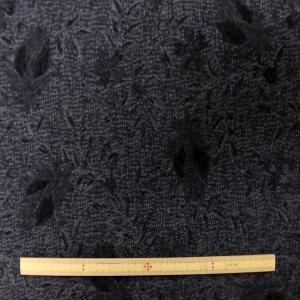 ジャガードデニムストレッチ(KHTYK56B)黒グレー系|sarasa-nuno