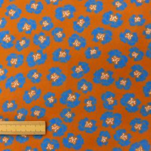 ポリエステル合繊生地(189) 花柄/キャメル 110cm巾 数量1(50cm)250円 国産|sarasa-nuno