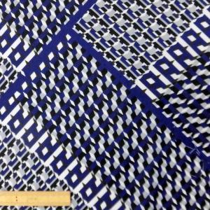 ポリエステル合繊生地(0013) オフ白xブルー系 110cm巾 数量1(50cm)250円 国産|sarasa-nuno