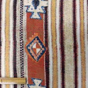 ポリエステルジョーゼット生地(YEX240)ストライプ柄/ブラウン系 数量1(50cm)250円 国産|sarasa-nuno