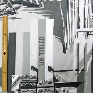 T/R(ポリ、レーヨン混)合繊生地(YEX256)大柄プリント 生地巾110cm 数量1(50cm)250円 国産|sarasa-nuno