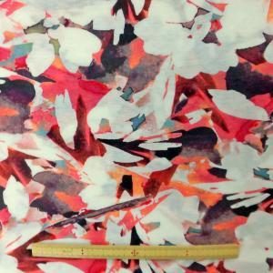 綿40/天竺強燃ニット(YFS1055)ペイント風花柄大 生地巾150cm 数量1(50cm)400円  国産 sarasa-nuno