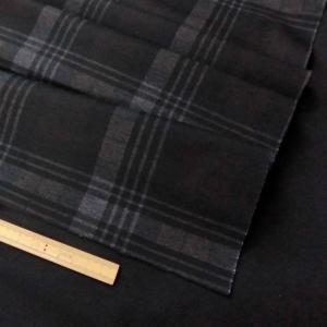 T/Rポンチニット(LBA7012)チェック柄/黒茶系 140cm巾 50cm(数量1)440円 国産|sarasa-nuno
