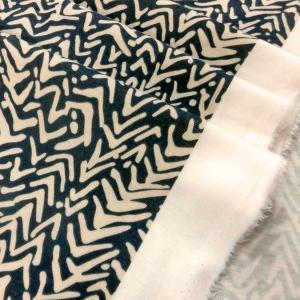 ポリエステルニット(46313)グレー系x薄ベージュ 105cm巾 50cm(数量1)340円 国産|sarasa-nuno