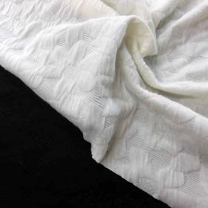 ポリエステルふくれジャガードニット(DKT23-SY-2)花柄 生地巾135cm  数量1(50cm)450円|sarasa-nuno