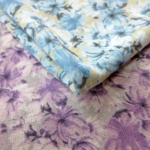 テンセル混ファンシーニット(R7074)花柄 生地巾100cm 数量1(50cm)390円  国産 sarasa-nuno