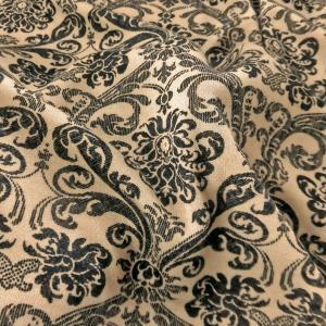 【小紋工房】PE/ウール混スムースニット(KKP1228-19)薄ベージュx黒 生地巾110cm 数量1(50cm)400円  国産 sarasa-nuno